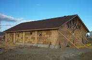 Дом из соломы, этап завершения