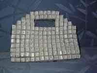 Самодельная сумочка из клавиатуры
