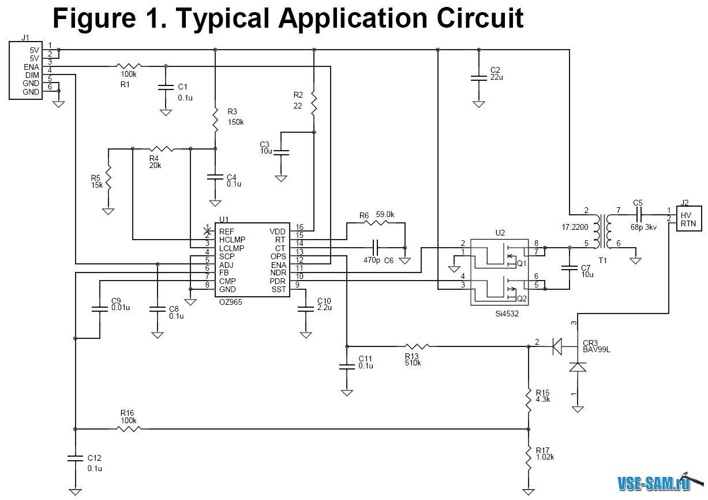 схема подсветки монитора - Практическая схемотехника.