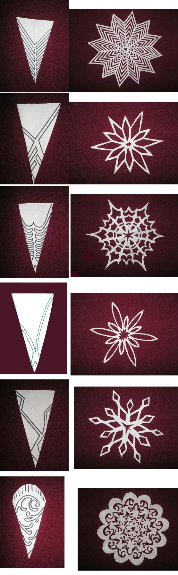 Самая обыкновенная и простая снежинка из копировальной бумаги .