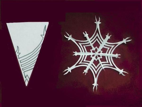 Новый год уже не за горами, поэтому можно потренироваться вырезать снежинки из бумаги, особенно дети будут в восторге.