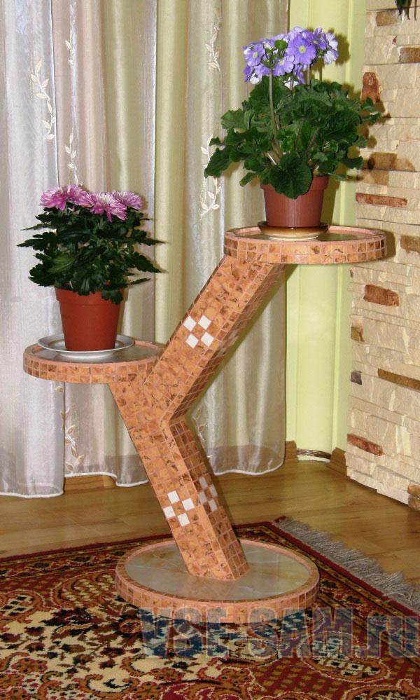 Как сделать деревянную подставку для цветов своими руками