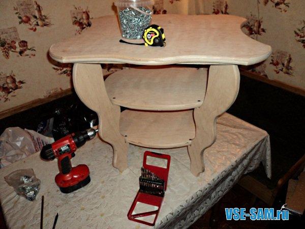 сделать мебель из фанеры.