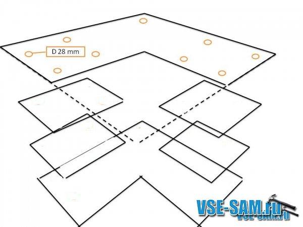 Схема кухонного уголка.